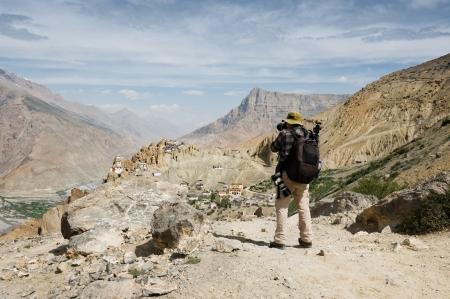 monastery nature: photographer take photo on himalayas mountain