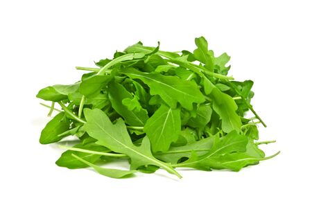 rucola: arugula isolated on white background