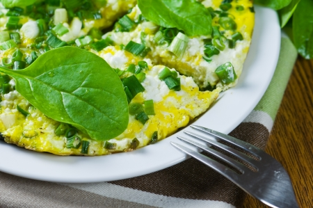 omelet: morning breakfast with spinach omelet