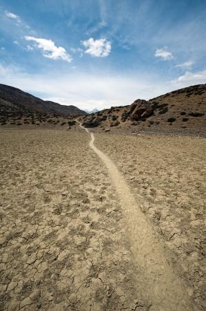 himalayas: the desert in himalayas mountain Stock Photo
