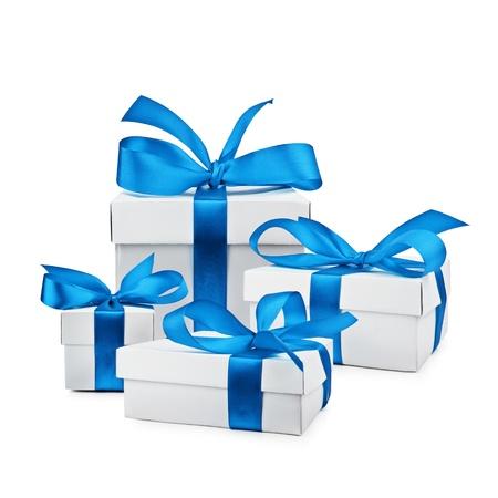 set van geïsoleerde geschenkdoos