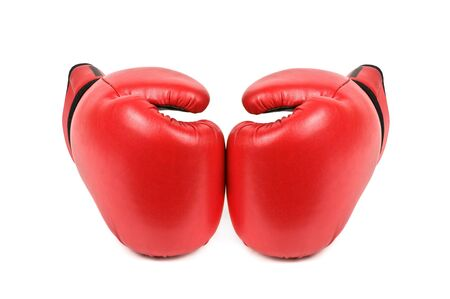 guantes de box: guantes de boxeo aislados en blanco