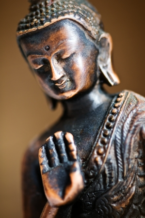 brown buddha statue close up