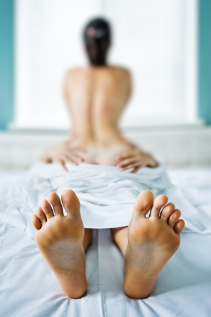 couple have a sex on bed Stock Photo