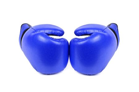 combative: boxing gloves isolated on white