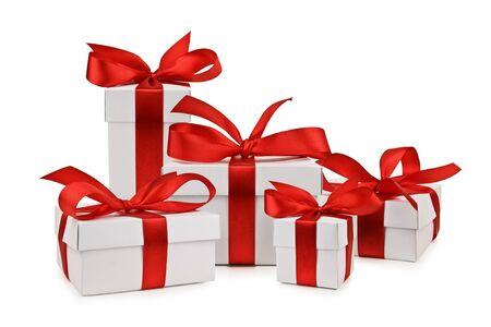 Satz von Geschenk-Box isoliert