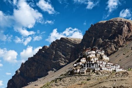 tibetan house: Kee monastery in himalayas mountain