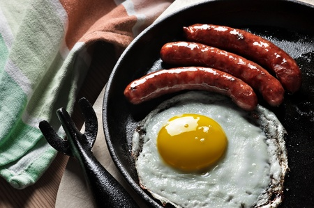 breakfast with eggs and sausage Stock Photo - 16692415
