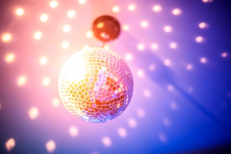 disco party: party ball light reflection backgrounds Stock Photo