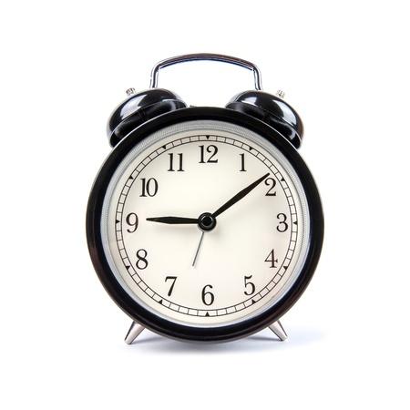 despertador: reloj despertador aislado en blanco