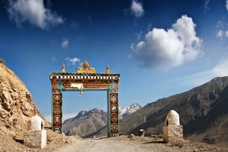 ki: Gates to Ki monastery in himalayas mountain