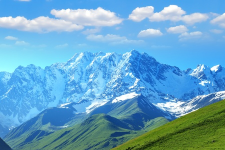 beautiful mountain on summer time photo