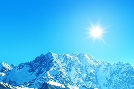 beautiful mountain on summer time photo