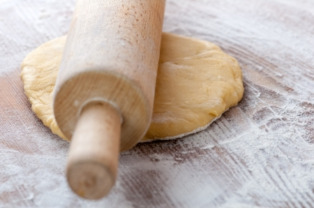 dough in hands close up photo