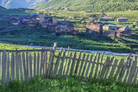 svan: antico villaggio sulla montagna del Caucaso