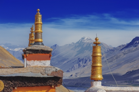 bodnath: tibetan gompa on sky