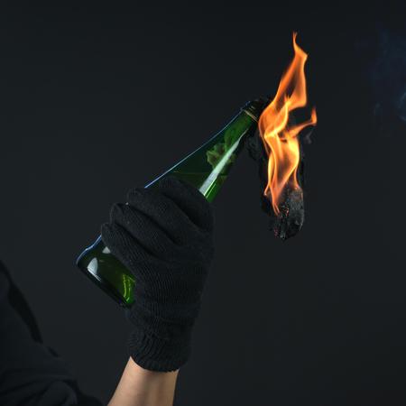 molotov cocktail in activist hand Stock Photo - 26119455