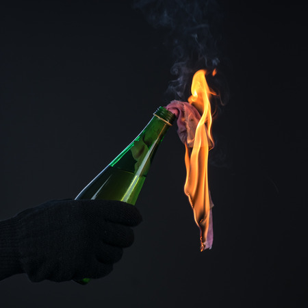 molotov cocktail in activist hand Stock Photo - 26560972