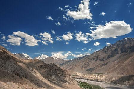 himalayas: himalayas mountain in summer time