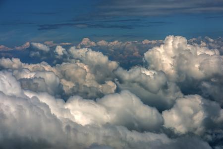 view through: view through airplane window Stock Photo