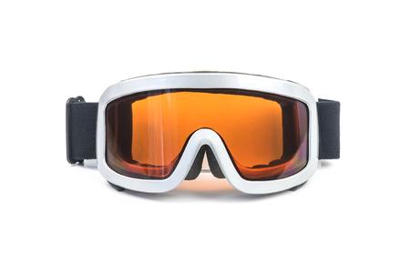 スキー用メガネ白で隔離 写真素材