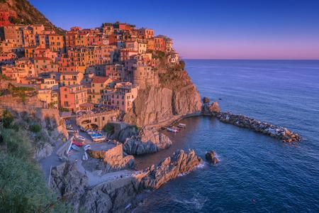cinque terre: city manarola in cinque terre, Italy