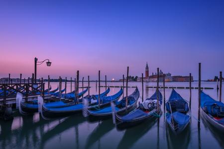 piazza san marco: venice gondola on evening time