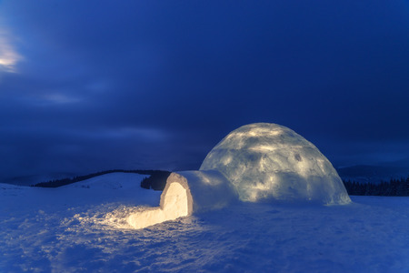 weather protection: igloo in the high mountain