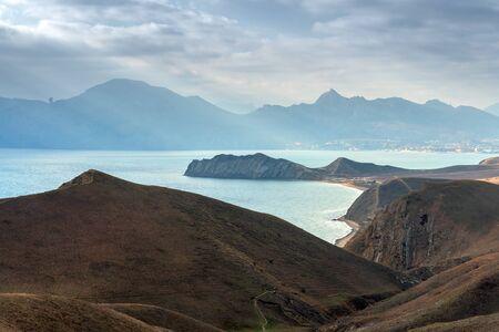 the black sea: Black sea landscape in Crimea Stock Photo