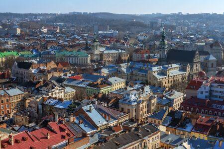 lviv: Lviv city day landscape. Ukraine