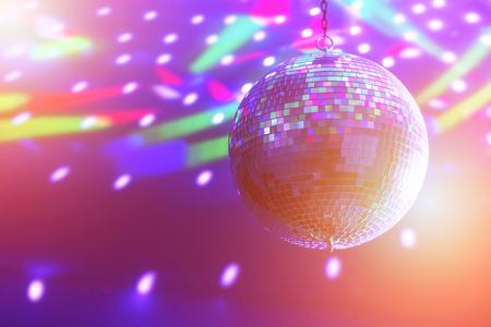 disco parties: bola de discoteca de antecedentes de cerca