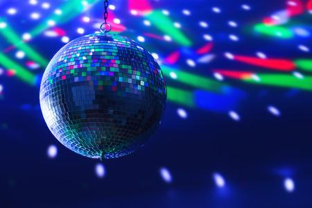 disco ball background close up Standard-Bild