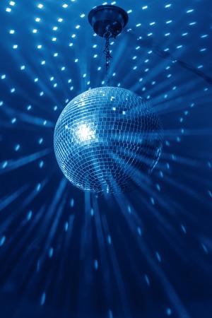 pelota: bola de discoteca de antecedentes de cerca