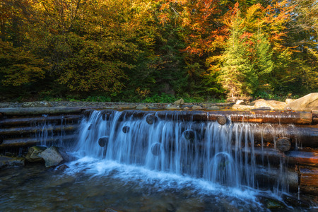 tropical forest: Beauty waterfall in autumn forest Stock Photo