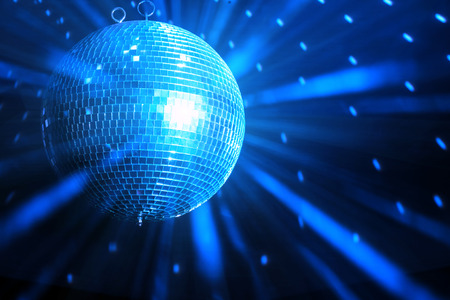disco ball background close up Stock Photo