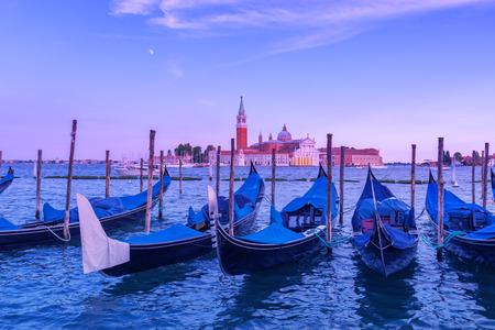 venice gondola: venice gondola on evening time