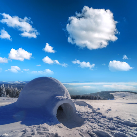 igloo: igloo in the high mountain