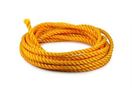 hank: orange rope hank isolated on white