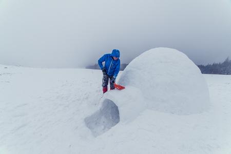 igloo: igloo building in the high mountain
