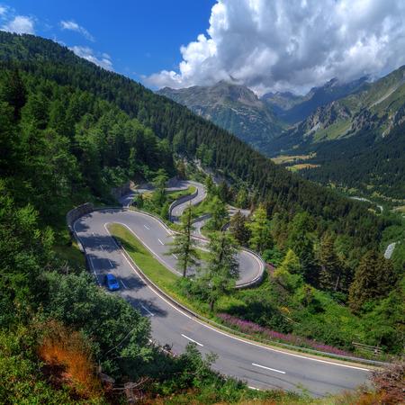 pass on: Amazing view of maloja pass, Alps, Switzerland, Europe.