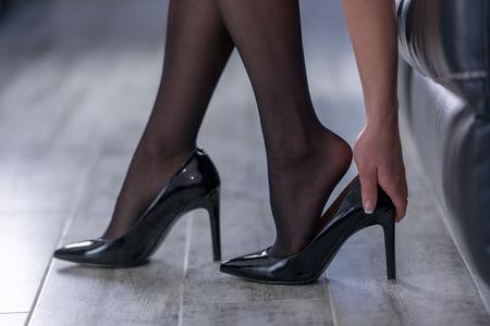 Schöne weibliche Beine Nahaufnahme Standard-Bild - 55139062