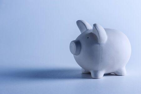 money box: white pig money box closeup