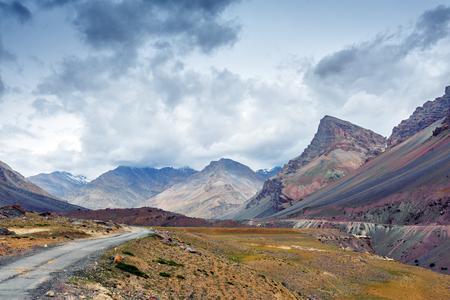 himalayas: the road in himalayas mountain