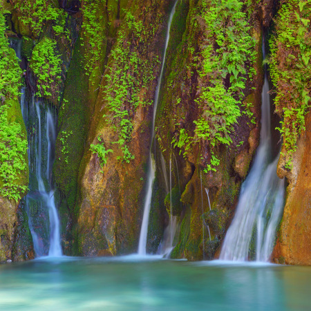 magnificent: Amazing view of waterfall in Goynuk canyon, Antalia, Turkey Stock Photo