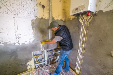 conduction: pipefitter installing system of heating