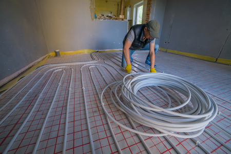 convection: pipefitter installing system of heating