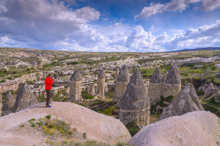 phallus: Famous Love valley in Cappadocia, Turkey