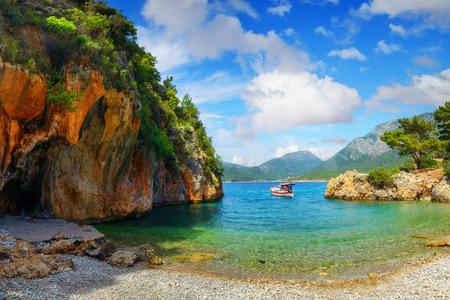 lagoon: amazing lagoon with alone boat