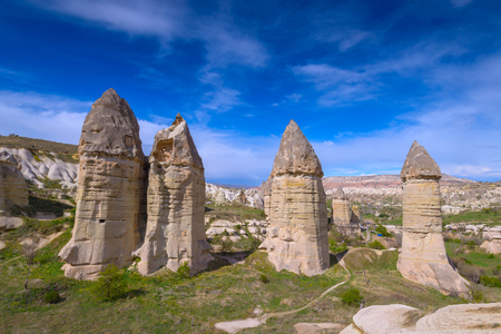 phallus: Famous Love valley in Cappadocia, Turkey