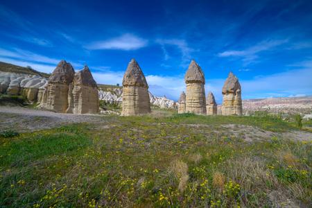 phallic: Famous Love valley in Cappadocia, Turkey